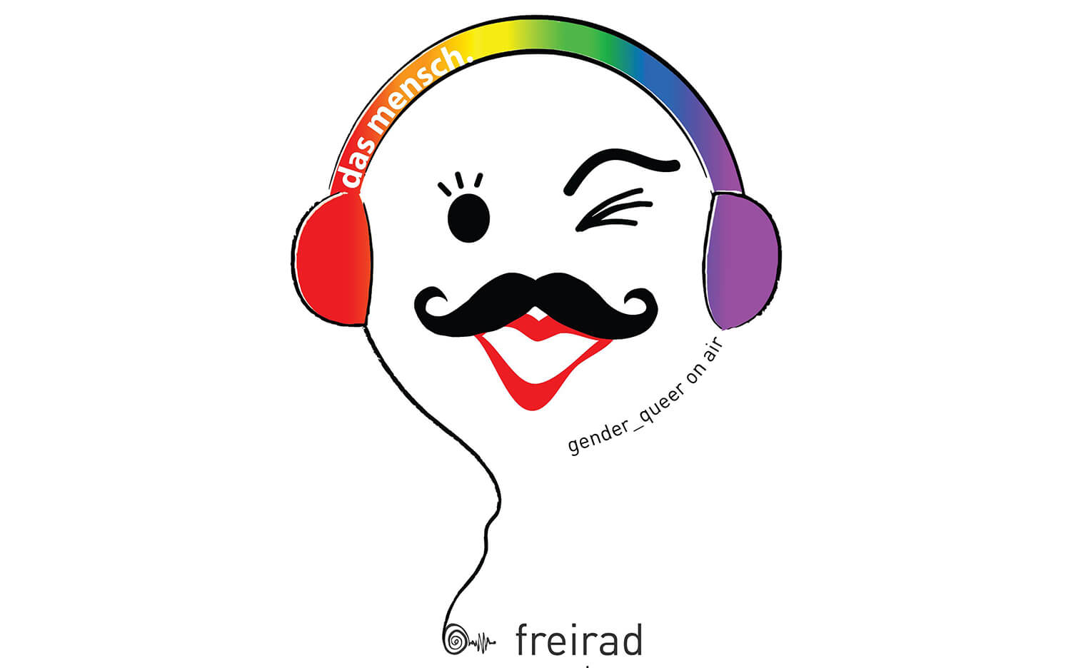 "Logo ""Das mensch. gender_queer on air"""""